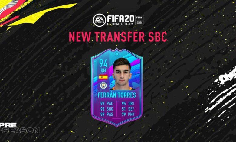FIFA 20: SBC Ferran Torres - Pretemporada