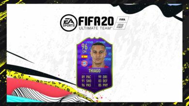 FIFA 20: SBC Thiago Alcantara MOTM - Anunciada la tarjeta Man Of The Match