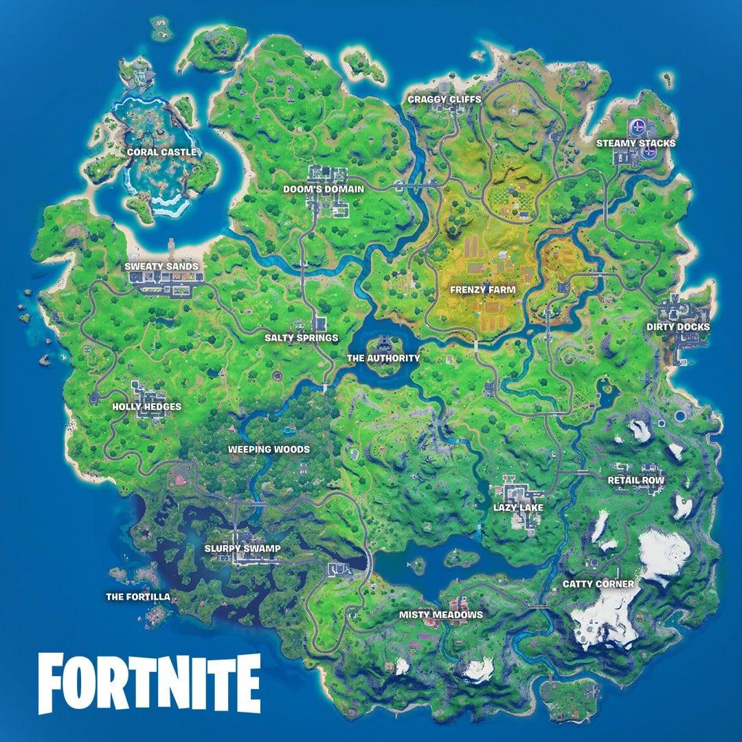 fortnite capítulo 2 temporada 4 mapa