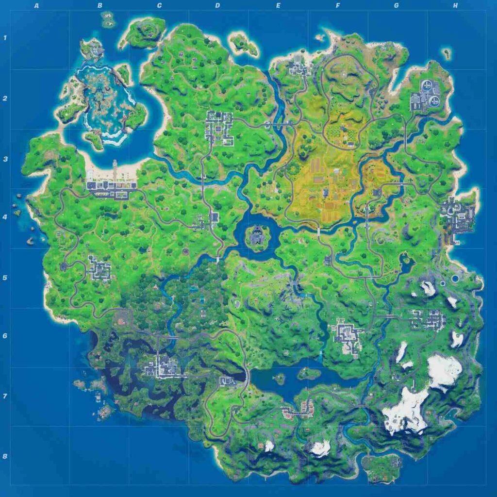 Mapa Temporada 4 Fortnite