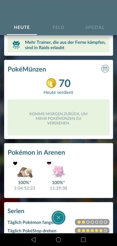 Sistema de monedas Pokemon GO
