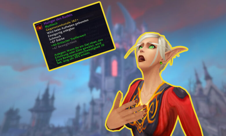 WoW: el artículo de Legion es fácil de conseguir por poco tiempo, ideal para subir de nivel en Shadowlands