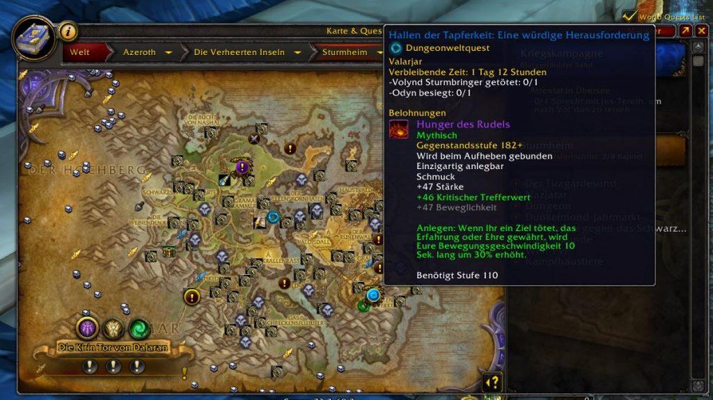 WOW El hambre de la manada en Legion Map 2