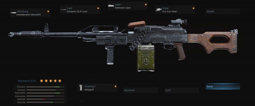 cod warzone armas pkm configuración 3 lmg