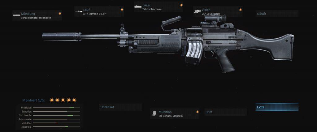 cod warzone armas bruen configuración 3 lmg