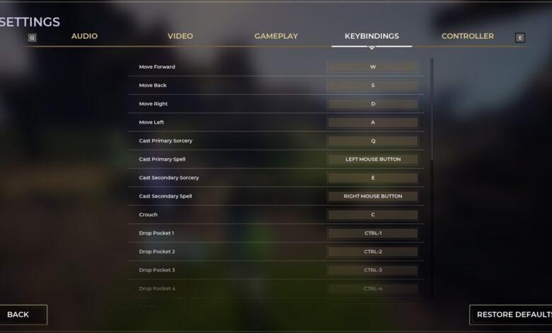 Spellbreak: controles de teclado y combinaciones de teclas