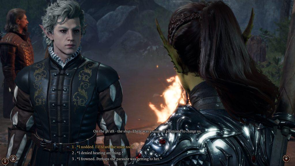 Diálogo de Baldur's Gate 3