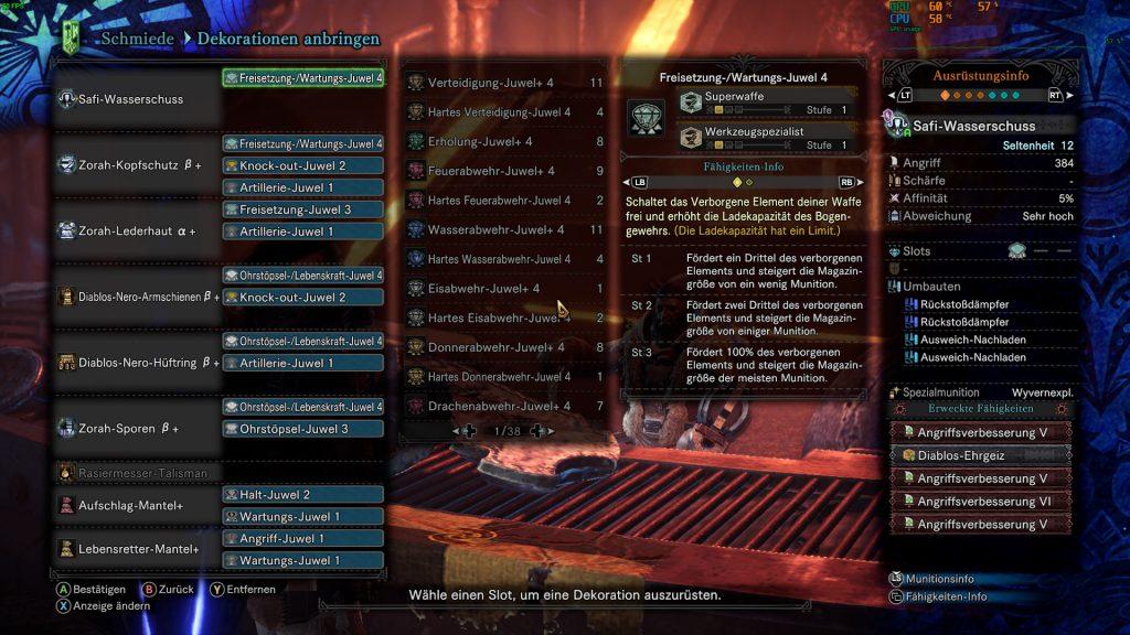 Monster Hunter World Safi-Water Shot Rajang Construir