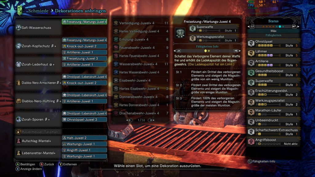 Monster Hunter World Rajang Build Skills