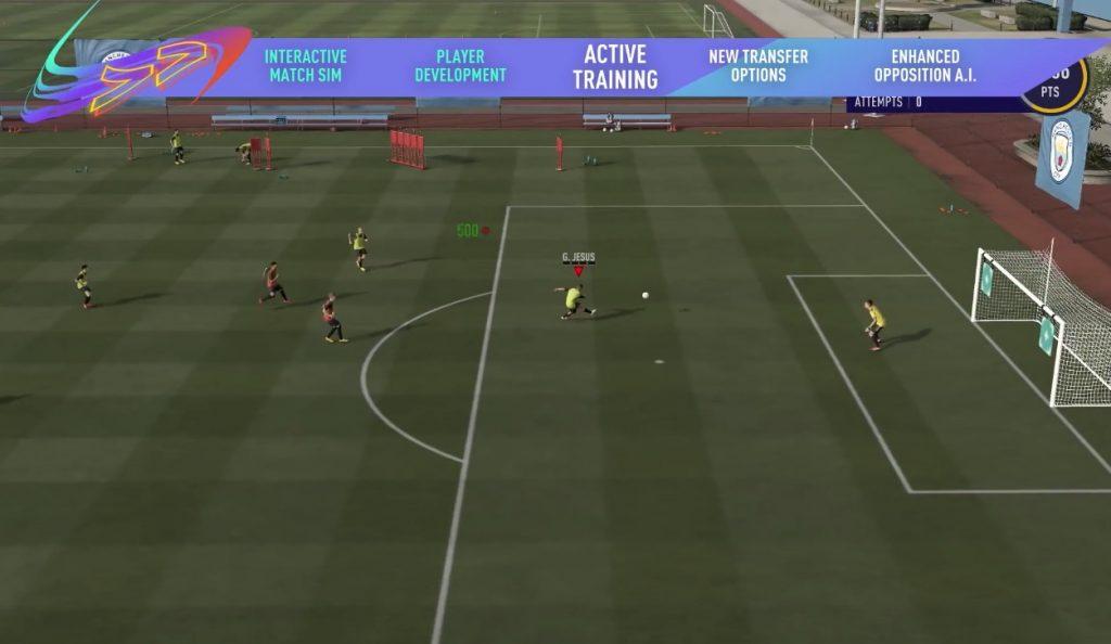 Entrenamiento FIFA 21