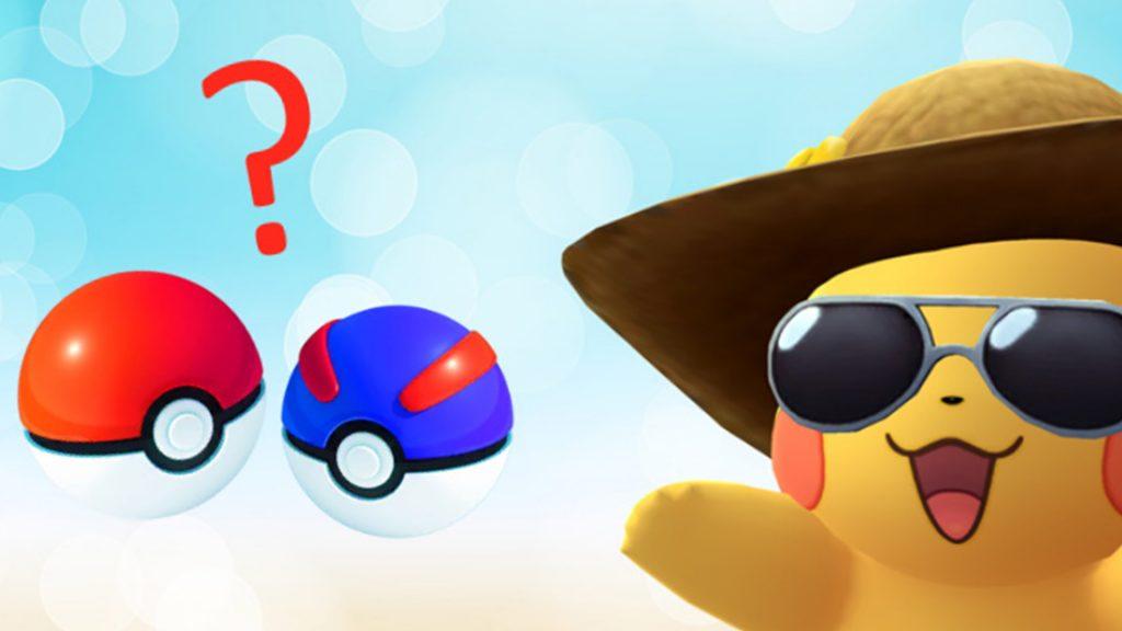 Título de las bolas de Pokémon GO Pikachu