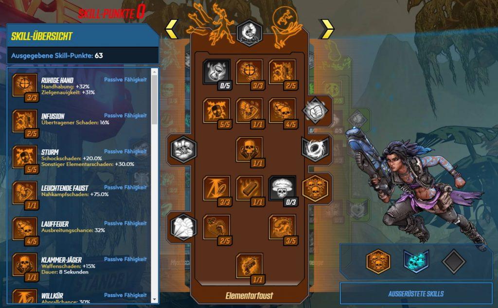 Borderlands 3 Level 65 Build Amara Elemental Fist