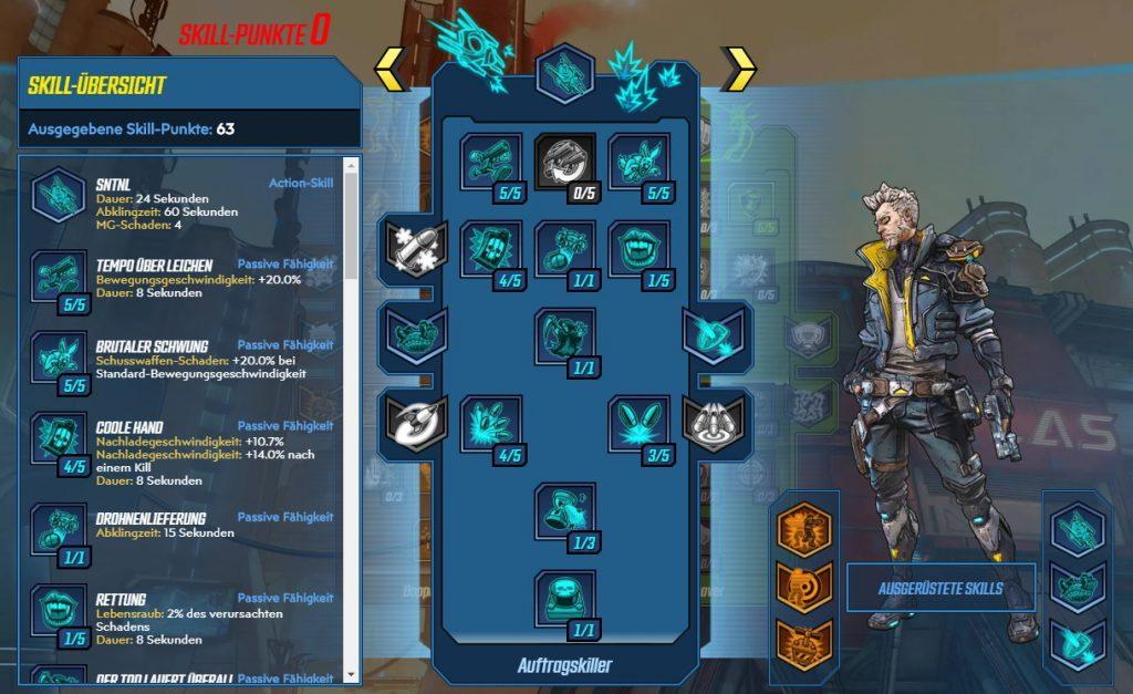 Borderlands 3 Nivel 65 Build Zane Contract Killer