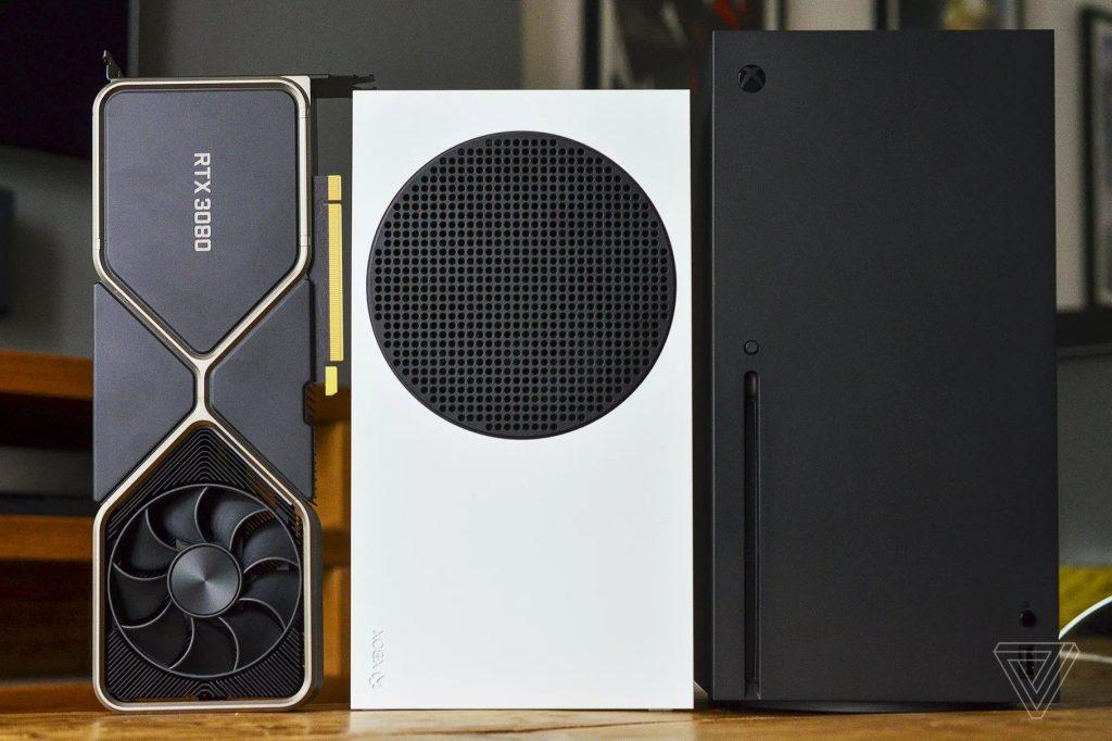 RTX 3080 en comparación con Xbox Series X y S.