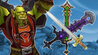 WoW: este guerrero no tiene muchas espadas, las tiene todas