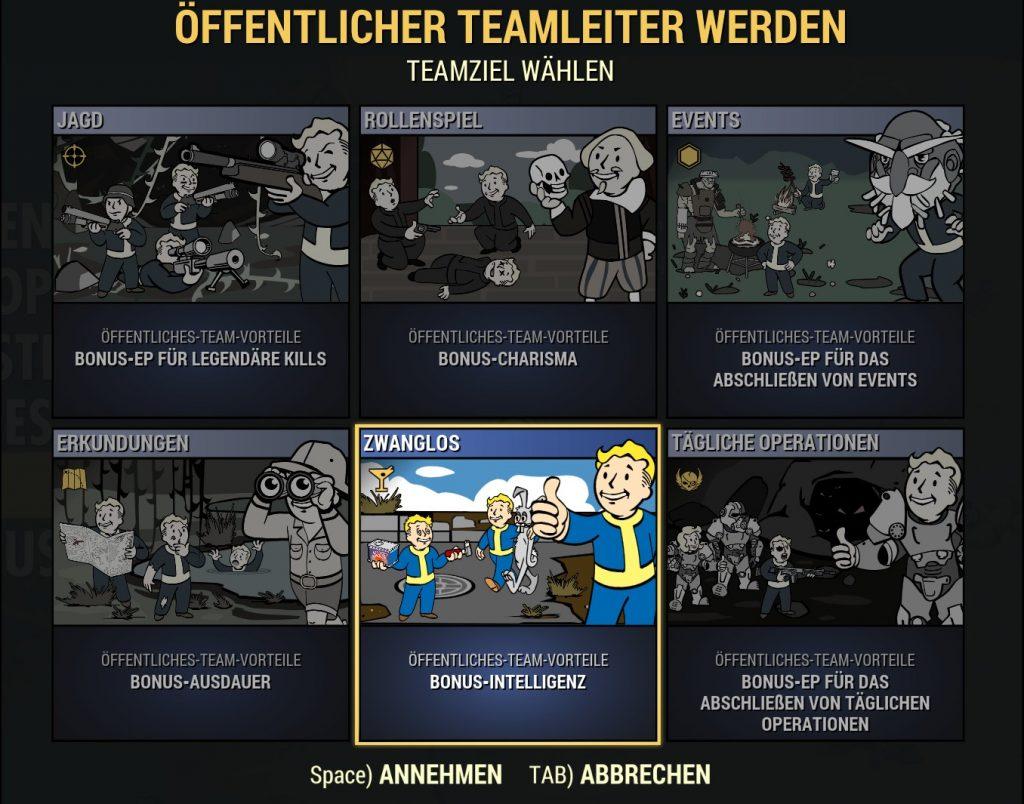 Fallout 76 Public Teams nuevo