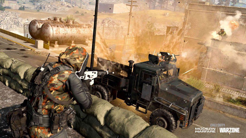 bacalao warzone tanque royale camión