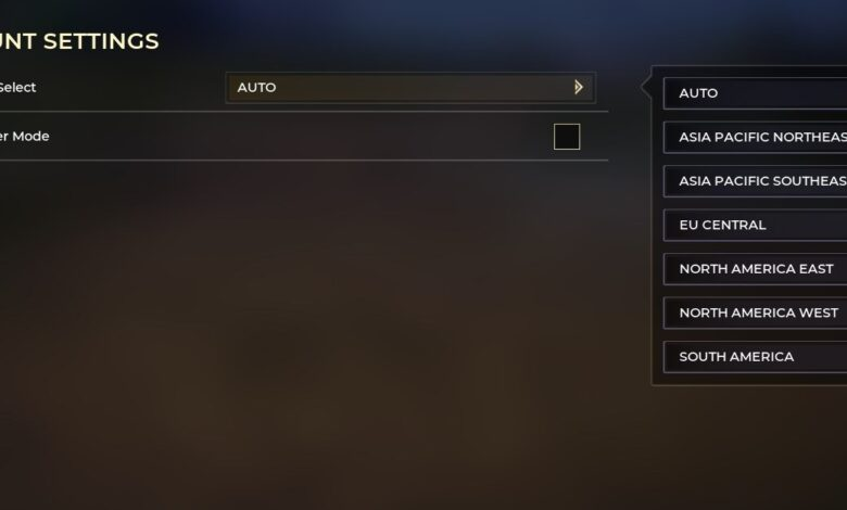 Cómo cambiar la región del servidor en Spellbreak