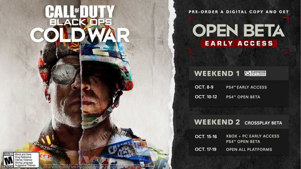 Fin de semana Beta de CoD Cold War