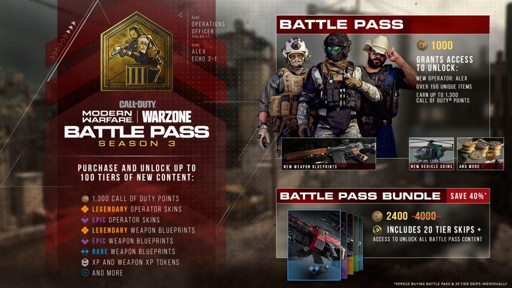 """cod-wm-s3-battle-pass """"class ="""" lazy lazy-hidden wp-image-491301 """"srcset ="""" https://images.mein-mmo.de/medien/2020/04/cod-wm-s3- pase-de-batalla-1024x576.jpg 1024w, https://images.mein-mmo.de/medien/2020/04/cod-wm-s3-battle-pass-300x169.jpg 300w, https: //images.mein- mmo.de/medien/2020/04/cod-wm-s3-battle-pass-150x84.jpg 150w, https://images.mein-mmo.de/medien/2020/04/cod-wm-s3-battle -pass-768x432.jpg 768w, https://images.mein-mmo.de/medien/2020/04/cod-wm-s3-battle-pass-1536x864.jpg 1536w, https: //images.mein-mmo .de / medien / 2020/04 / cod-wm-s3-battle-pass.jpg 1920w """"data-lazy-size ="""" (max-width: 1024px) 100vw, 1024px """"> Entonces, básicamente, todos los pases de batalla están disponibles CoD MW y Warzone construidos      <p>Sin embargo, también hay una ruta de recompensa gratuita en la que obtienes menos cosméticos, pero no te pierdes nada relevante para el juego. Las nuevas armas básicas, por ejemplo, siempre provienen de esta rama libre y pueden ser adquiridas libremente por todos los soldados. </p> <p>En este artículo explicamos si la compra del Pase de batalla vale la pena: CoD Modern Warfare: Compre un Pase de batalla o no, ¿para quién vale la pena?</p> <h3>Nuevas armas para la temporada 6</h3> <p><strong>¿Qué pasa con las nuevas armas?</strong> Con cada nueva temporada, CoD MW y Warzone 3-4 ponen en juego nuevas armas. Eso tampoco debería cambiar en la temporada 6. </p> <p>Aunque no se conocen oficialmente nuevas armas, ahora hay 4 nuevas armas en los datos que aún no se han incorporado al juego. Definitivamente existe la posibilidad de que estos se introduzcan en el juego durante la temporada 6.</p> <p>    <img data-lazy-type="""
