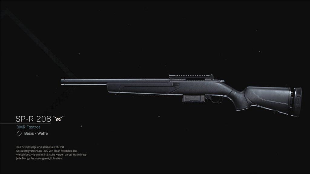 bacalao guerra moderna zona de guerra armas temporada 6 SP-R 208