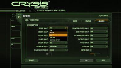 Crysis Remastered - Mejores configuraciones de gráficos