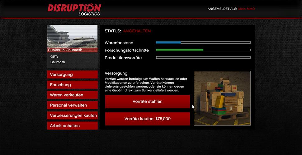 Suministros de búnker de GTA 5 Online