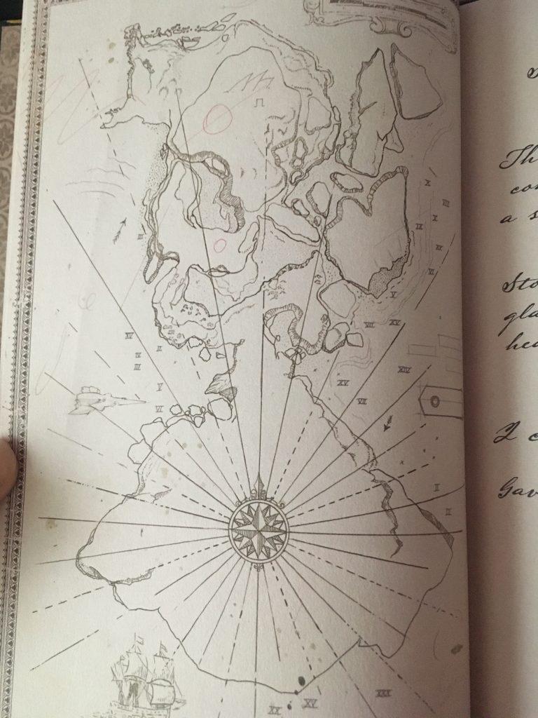 Mapa del destino de la isla del tesoro