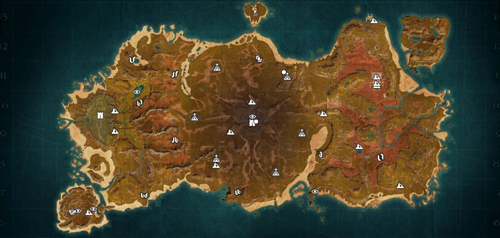 Conan Exiles: Mapa de la isla de Siptah