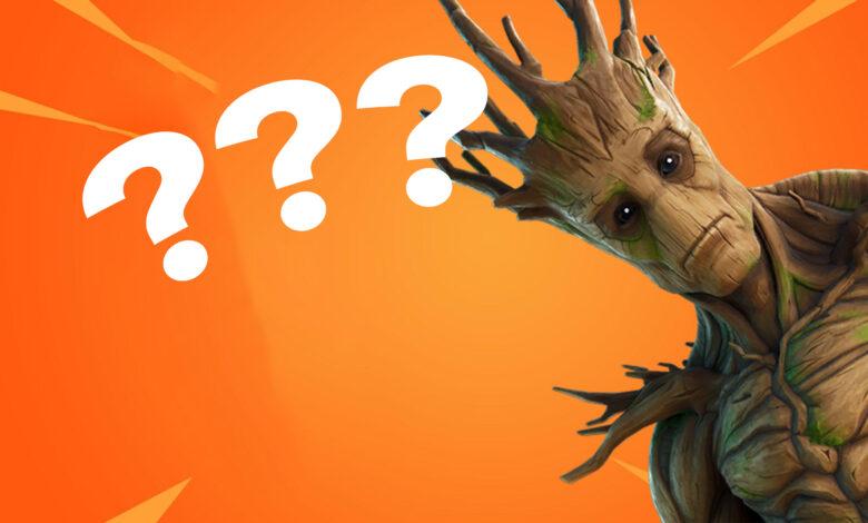 Error loco en Fortnite: Irónicamente, Groot Ball dispara oponentes lejos del mapa