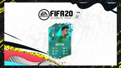 FIFA 20: SBC Gianluigi Buffon Flashback Pretemporada