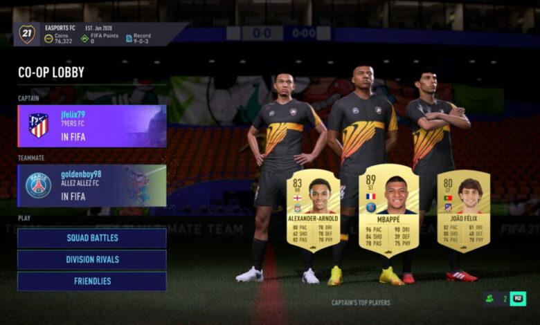 FIFA 21: el video muestra el nuevo modo cooperativo de FUT 21