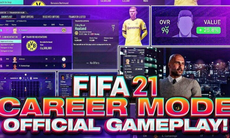 FIFA 21: el video muestra la jugabilidad del modo carrera