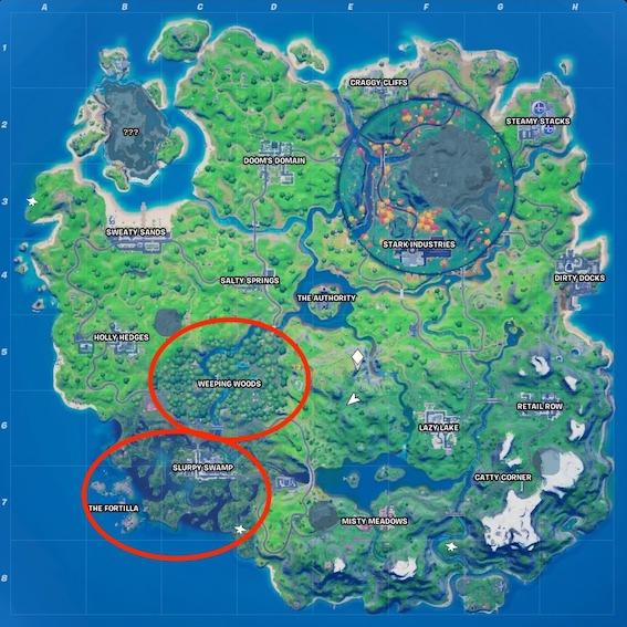 """fortnite-wolverine-fundorte-map-1 """"class ="""" lazy lazy-hidden wp-image-571161 """"srcset ="""" https://images.mein-mmo.de/medien/2020/09/fortnite-wolverine-fundorte- map-1.jpeg 567w, https://images.mein-mmo.de/medien/2020/09/fortnite-wolverine-fundorte-map-1-300x300.jpeg 300w, https: //images.mein-mmo. de / medien / 2020/09 / fortnite-wolverine-fundorte-map-1-150x150.jpeg 150w, https://images.mein-mmo.de/medien/2020/09/fortnite-wolverine-fundorte-map-1 -231x231.jpeg 231w """"data-lazy-size ="""" (max-width: 567px) 100vw, 567px """"> Wolverine ya se ha encontrado en las áreas marcadas en rojo     <p>En las notas del parche, que solo reciben los jugadores con su propio código de creador, Epic dijo que Wolverine se encontraría en Weeping Woods (a través de Twitter). Pero ahora los jugadores ya han encontrado al héroe en estos lugares:</p> <ul> <li>Bosque llorón</li> <li>Slurpy Swamp y el área del pantano</li> <li>Cerca de La Fortilla</li> </ul> <p>Este video muestra cómo Wolverine está cerca de Slurpy Swamp y deambula libremente por el área:</p> <p>Contenido editorial recomendado En este punto, encontrará contenido externo de YouTube que complementa el artículo Mostrar contenido de YouTube Doy mi consentimiento para que se me muestre contenido externo. Los datos personales se pueden transmitir a plataformas de terceros. Lea más sobre nuestra política de privacidad.</p> <p> Enlace al contenido de YouTube .embed-youtube .embed-privacy-logo {background-image: url (https://mein-mmo.de/wp-content/plugins/embed-privacy/assets/images/embed-youtube.png ? v = 1598861582); } Los usuarios de dispositivos móviles retroceden hasta 3 horas y 20 minutos.</p> <p>Como parece ahora, el superhéroe aparece en uno diferente de estos lugares en cada ronda. Podría ser un error, ya que se suponía que Wolverine solo aparecería en Weeping Woods. Pero dado que el héroe se mueve libremente, también puede ser que simplemente camine.</p> <p>Pero si quieres conocer al héroe y luchar contra él, ahora sabes dónde bus"""