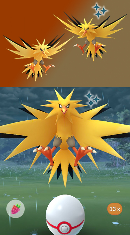 Pokémon GO Shiny Zapdos