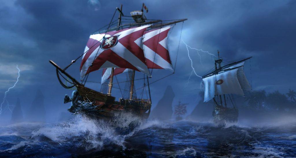 Tormenta ArcheAge en el mar