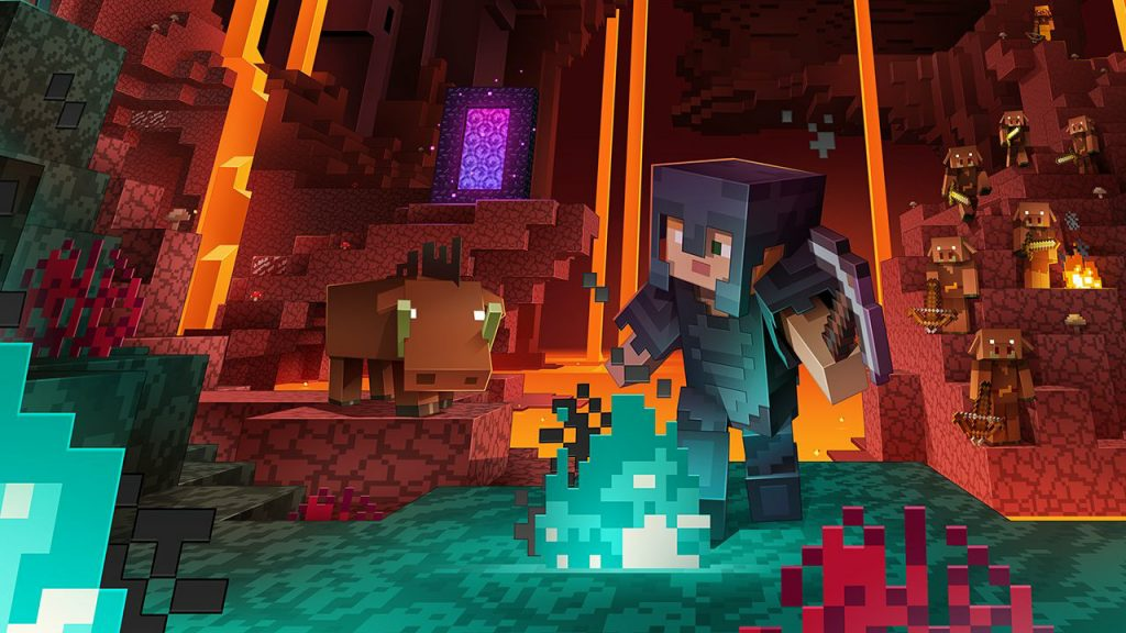 Minecraft Texture Pack Nether título 1280x720