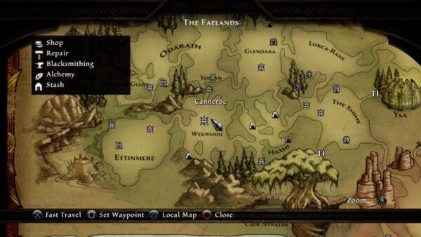 Viaje rápido de Kingdoms of Amalur