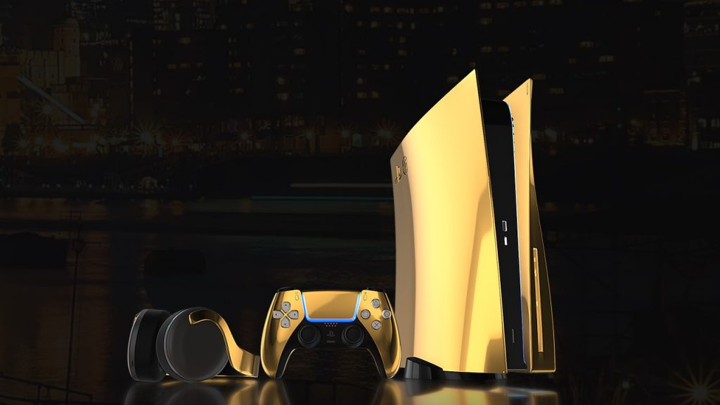 PS5 de lujo en oro