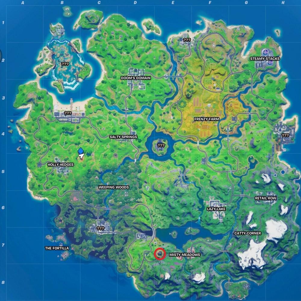 fortnite panther merodear mapa de ubicación