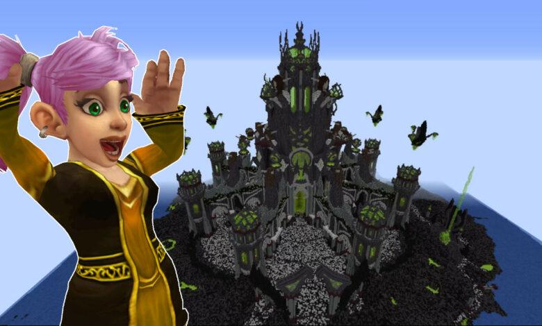 WoW: Así de bien se ve la tumba de Sargeras en Minecraft