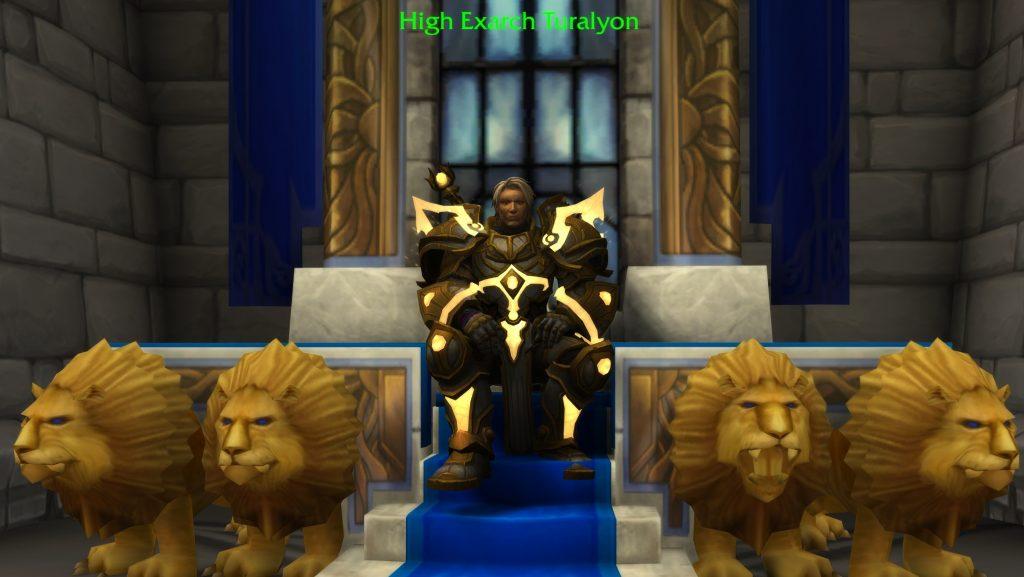 WoW Turalyon en el trono