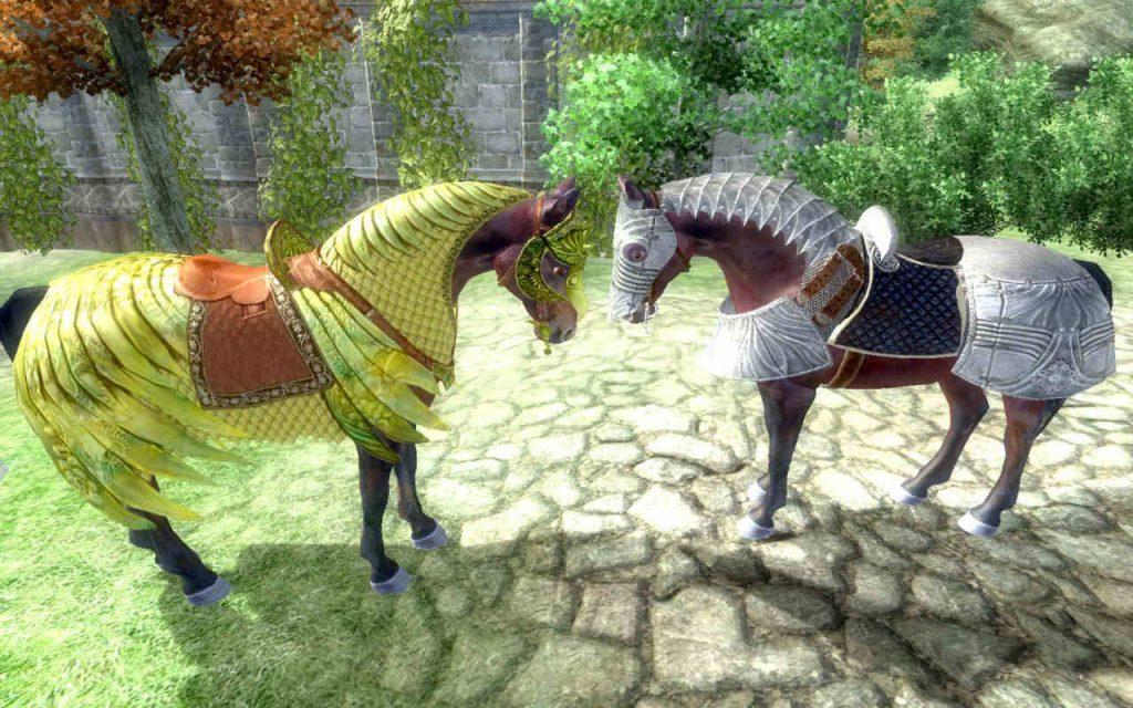 Elder Scrolls 4 Oblivion armadura de caballo 2