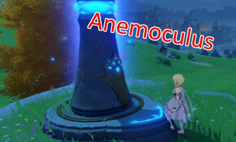 Ubicaciones de Anemoculus en Genshin Impact - El mapa muestra las localidades