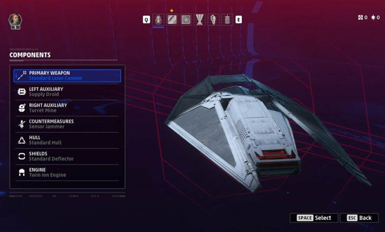 Cómo personalizar tu barco en los escuadrones de Star Wars