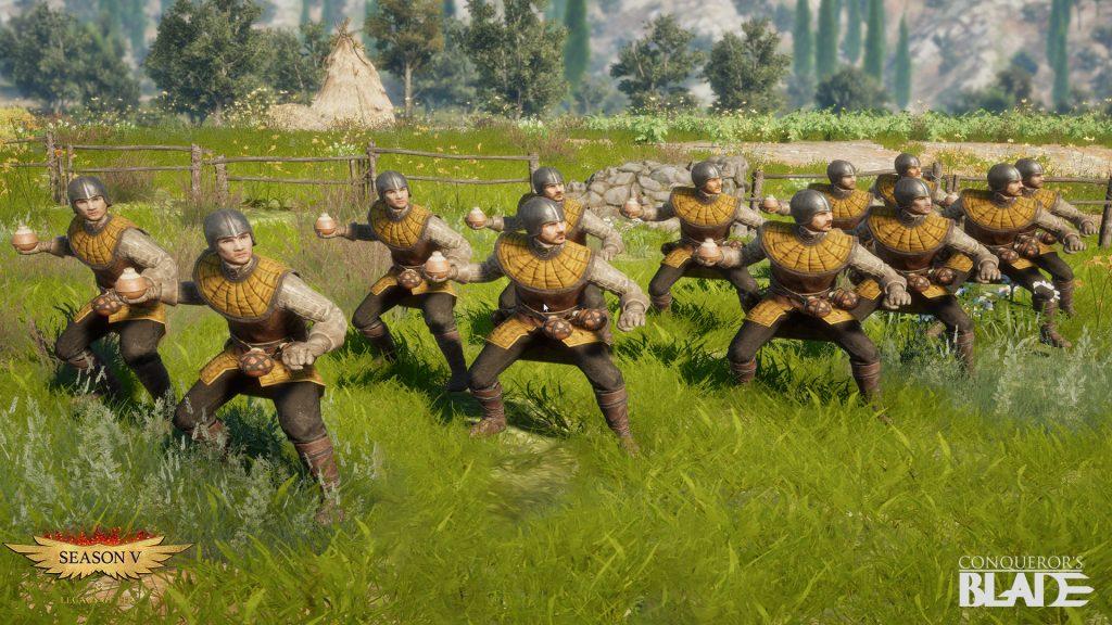 Granadas de mano de nueva unidad de Conqueror's Blade