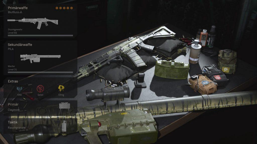 zona de guerra de bacalao cargas importantes equipamiento fantasma francotirador