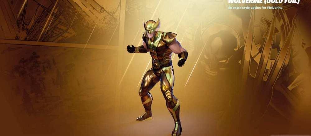 Lobezno dorado de Fortnite