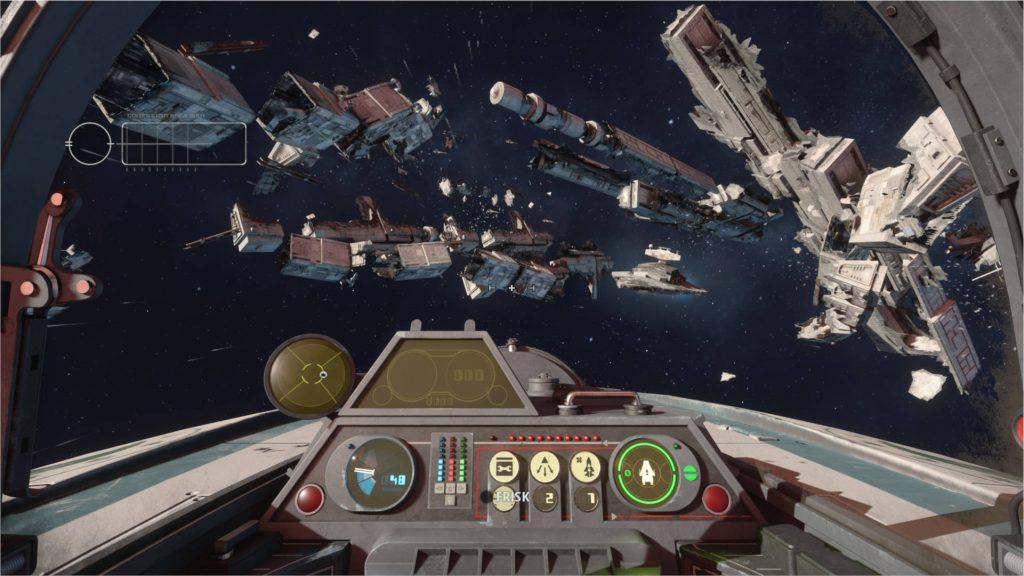 """star-wars-squadrons-cockpit-view.jpg """"class ="""" wp-image-576629 """"srcset ="""" https://images.mein-mmo.de/medien/2020/10/star-wars-squadrons-cockpit- view-1024x576.jpg 1024w, https://images.mein-mmo.de/medien/2020/10/star-wars-squadrons-cockpit-ansicht-300x169.jpg 300w, https: //images.mein-mmo. de / medien / 2020/10 / star-wars-squadrons-cockpit-view-150x84.jpg 150w, https://images.mein-mmo.de/medien/2020/10/star-wars-squadrons-cockpit-ansicht -768x432.jpg 768w, https://images.mein-mmo.de/medien/2020/10/star-wars-squadrons-cockpit-ansicht-1536x864.jpg 1536w, https://images.mein-mmo.de /medien/2020/10/star-wars-squadrons-cockpit-ansicht-780x438.jpg 780w, https://images.mein-mmo.de/medien/2020/10/star-wars-squadrons-cockpit-ansicht. jpg 1921w """"tamaños ="""" (ancho máximo: 1024px) 100vw, 1024px """"> En la cabina detallada tienes una descripción general de todo.      <h3>El modo multijugador ofrece pocos incentivos para seguir con él por más tiempo</h3> <p><strong>¿Qué estaba esperando?</strong> Algunos modos más, tal vez más barcos o al menos un sistema de clasificación o cosmético motivador. </p> <p>Los partidos en particular podrían usar más variedad. Aquí incluso veo un paso atrás en comparación con las batallas espaciales en Battlefront 2. Porque en el hermano mayor pudiste desarrollar naves heroicas como el Millennium Falcon durante las batallas. Eso fue muy motivador para mí y aflojó la lucha.</p> <p>Lo mismo se aplica al sistema de clasificación y la recepción de cosméticos. El sistema se ha mantenido tan simple como es posible en Star Wars: Squadrons: </p> <ul> <li>El equipo de los barcos cuesta puntos de requisición</li> <li>Los cosméticos cuestan fama</li> <li>Obtienes ambos cuando subes de nivel</li> <li>Con trabajos pequeños aún puedes ganar fama</li> </ul> <p>También hay una especie de """"Pase de batalla"""" que dura 60 días. Si completo 10 tareas en ese tiempo, obtendré un elegante casco de la Nueva República. Cuando miré esto, incluso me sentí un poco cabreado por un """