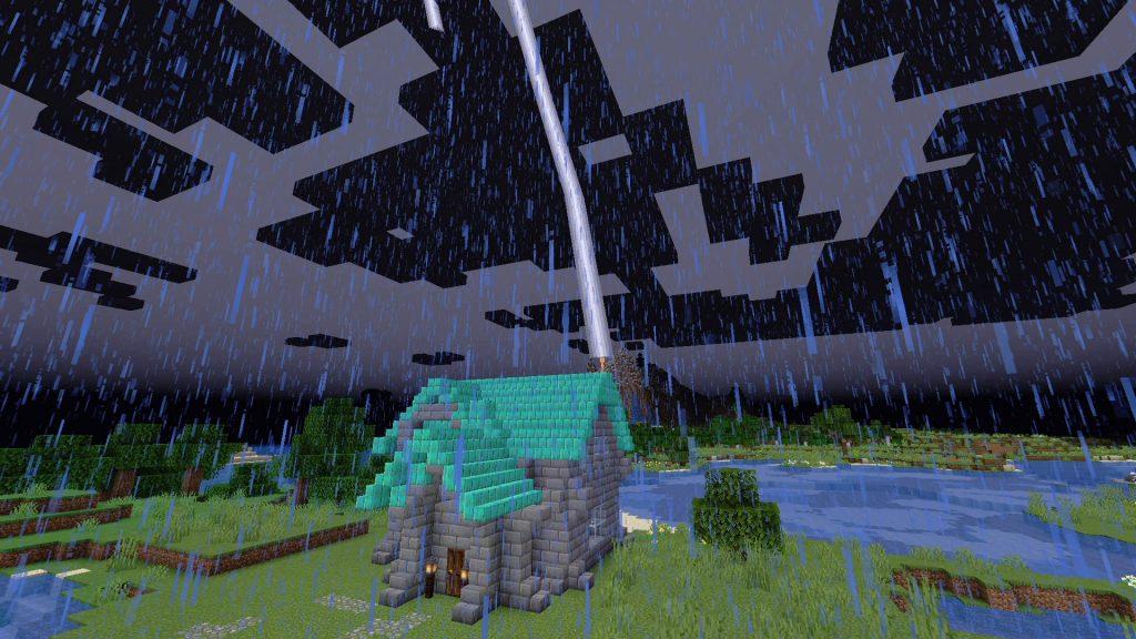 Pararrayos de Minecraft